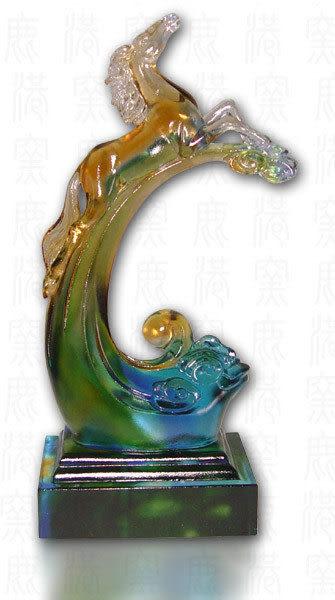 鹿港窯~居家開運水晶琉璃~ 志在千里◆附精美包裝◆附古法制作珍藏保證卡◆免運費送到家