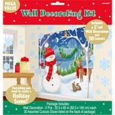 聖誕 裝飾 佈置 牆壁裝飾紙卡組-雪人與麋鹿