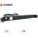 8孔15安培 指針電錶 機架型排插 (SPMA-1512-08)