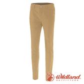 【wildland 荒野】女 彈性透氣抗UV貼身長褲『黃卡其』0A71315 戶外|休閒|釣魚|彈性|抗紫外線