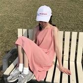 洋裝 春夏韓版小清新中長款學生連衣裙女2020新款純色簡約吊帶裙子長裙