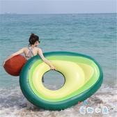 游泳圈 牛油果水上浮床充氣浮排超大鴨梨【奇趣小屋】