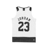 Nike 背心 Jordan Tank 白 黑 女款 童裝 大童 爆裂紋 【ACS】 53311ST513001