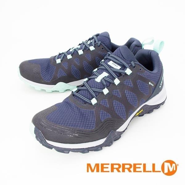 【南紡購物中心】MERRELL(女) SIREN 3 GORE-TEX郊山健行鞋 女鞋 - 藍(另有灰)