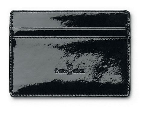 Faber-castell 經典黑漆皮信用卡夾 *188803