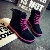 秋冬季平底雪地靴短靴韓版加絨保暖馬丁靴棉鞋學生女靴子 夢娜麗莎