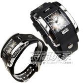 捷卡 JAGA 指針錶 方形 漸層灰黑面 冷光 鉚釘 雙層黑色橡膠錶帶 34mm 男錶 運動錶 學生錶 軍錶 AQ81-A