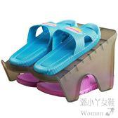 宿舍雙層立體經濟型收納迷你塑料簡易鞋架  Dhh6310【潘小丫女鞋】