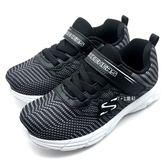 《7+1童鞋》中小童 SKECHERS 95030NBKW 輕量 透氣 慢跑鞋 運動鞋 B988 黑色