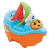 VTECH 二合一嘟嘟戲水洗澡玩具-微笑帆船