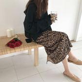 秋冬韓風個性豹紋高腰A字裙中長款半身裙女Q27789米莎 Misha