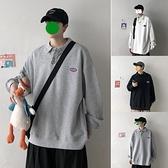 2021新款衛衣男士秋季寬鬆長袖POLO領外套潮流休閒街頭大碼上衣服 韓國時尚週
