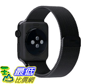 [現貨] 蘋果錶帶 Penom Fully Magnetic Closure Milanese Stainless  Strap 42mm Black B016JWO0HQ