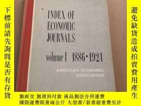 二手書博民逛書店index罕見of economic journals volu