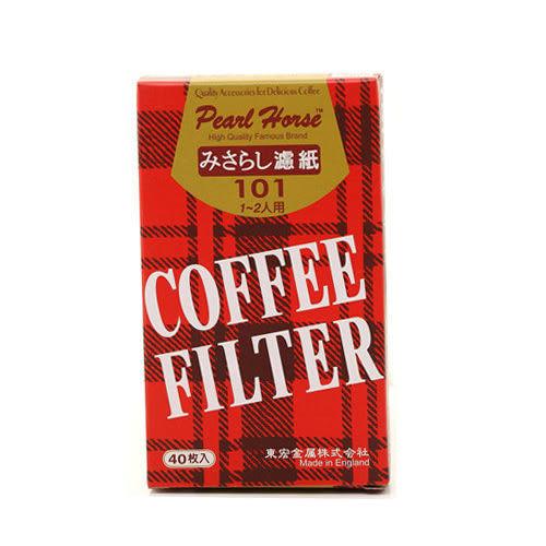 金時代書香咖啡 Pearl Horse 寶馬 101D 無漂白咖啡濾紙 1-2人份 40枚入