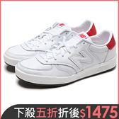New Balance 300 男鞋 女鞋 休閒 復古 皮革 白 紅 【運動世界】CRT300LD