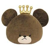【享夢城堡】小熊學校 12吋皇冠頭型抱枕