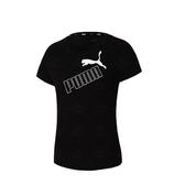 Puma Amplified 女款 黑色 短袖 上衣 t恤 運動 休閒 棉質 短袖T恤 58659301