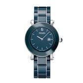 FENDI 典雅時尚陶瓷腕錶/藍/38mm/643130
