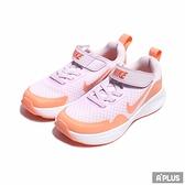 NIKE 中童 慢跑鞋 G 3S PANT 輕量 透氣 舒適 避震 魔鬼氈 中童 淡紫 橘-CJ3817500