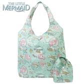 日本限定 迪士尼公主系列 小美人魚 愛麗兒 漫畫風 收納折疊式 手提袋 / 購物袋 / 環保購物袋