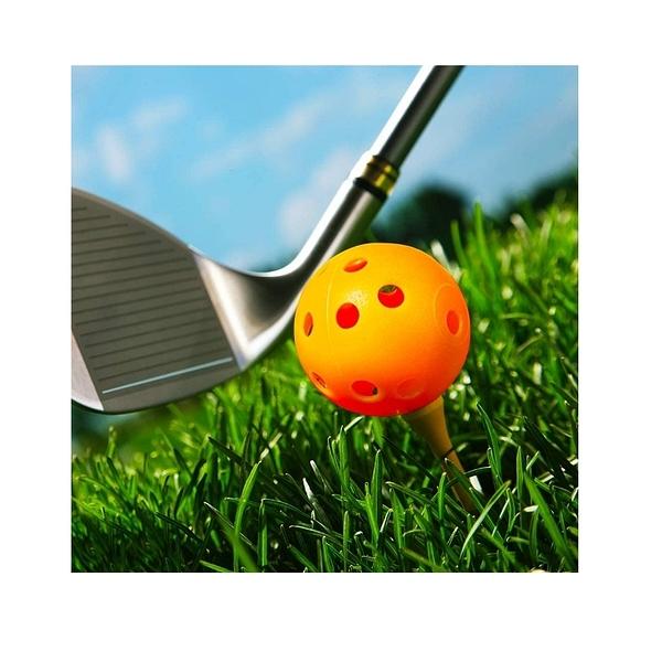 THIODOON 高爾夫空心練習球 12入 40mm 彩色 室內安全使用 Colored Airflow Golf Balls [9美國直購]