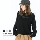 【KOMI】法國絨棉印字縮口上衣‧三色 (1821-218138)