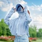 防護帽 遮陽帽子女夏天韓版防曬面罩防紫外線遮臉騎車防護帽大帽檐太陽帽 星期八