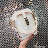 水桶高級感法國小眾包包女新款透明洋氣果凍時尚潮斜背包 黛尼時尚精品