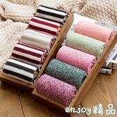 襪子 韓版日系羊毛線加絨加厚