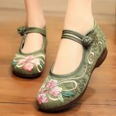老北京繡花布鞋女中老年人廣場舞女鞋媽媽中年民族風老人老太太鞋