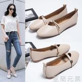 平底鞋女單鞋新款網紅淺口百搭孕婦豆豆鞋溫柔仙女復古奶奶鞋 至簡元素