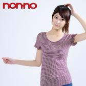 【non-no儂儂褲】(2入)Bra條紋短袖-23059