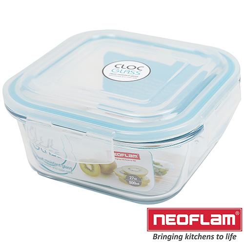 CLOC系列耐熱玻璃保鮮盒-正方形0.8L