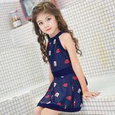 兒童泳衣-女童泳衣中大童泳衣12-15歲女孩連體裙式時尚韓國分體兒童泳衣女  多麗絲旗艦店