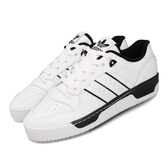 adidas 休閒鞋 Rivalry Low 白 黑 男鞋 運動鞋 皮革 【PUMP306】 EE4657
