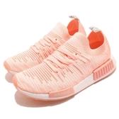 【五折特賣】adidas 休閒鞋 NMD_R1 STLT PK W 橘 粉橘 白 女鞋 編織鞋面 Boost 運動鞋【ACS】 AQ1119