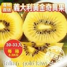 【【果之蔬-全省免運】義大利黃金奇異果30-33入(3.3kg±10%)