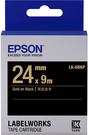 LK-6BKP EPSON 標籤帶 (黑底金字/24mm) C53S656405