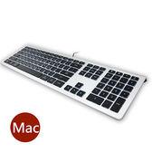 B.FRIEND KB460 剪刀腳發光薄型有線鍵盤(MAC專用)