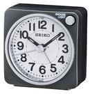 SEIKO 精工鐘 旅行靜音攜帶迷你鬧鐘 黑色 燈光賴床貪睡鬧鐘 公司貨保固1年 QHE118K