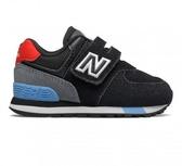 New Balance 574 童鞋 小童 休閒 復古 魔鬼氈 麂皮 黑 紅 藍 IV574JHO