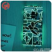 三星S9手機殼S10鋼鐵俠漫威超薄蜘蛛俠plus綠巨人S8 夜光創意硬殼  居樂坊生活館