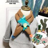 日韓秋冬兒童圍巾卡通小怪獸男女寶寶加棉加厚交叉圍脖小孩脖套潮「艾尚居家館」