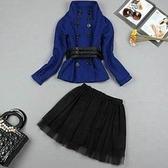 兩件式套裝含上衣+裙子-明星款迷人亮麗女裙裝9f33【巴黎精品】