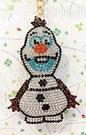 【震撼精品百貨】冰雪奇緣_Frozen~迪士尼公主系列亮片鑰匙圈/吊飾-冰雪站立#27776
