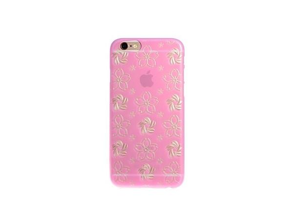 【唐吉商城】限量訂製款 POWER SUPPORT iPhone 6 / 6S 專用 Air Jacket Kirko SAKURA 粉野櫻(PSM-71)