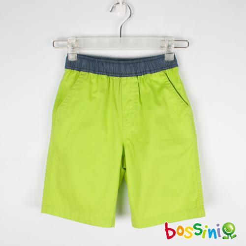 素色輕便短褲01蘋果綠-bossini男童