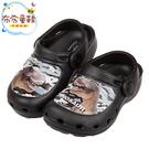 《布布童鞋》DINOSAUR暴龍恐龍黑色兒童布希鞋(16~19公分) [ M0E903D ]