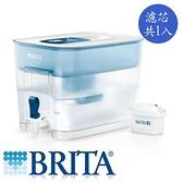 德國BRITA Flow 8.2L濾水箱藍色(內含1入濾芯)【愛買】
